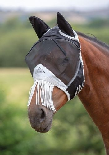 Fine Mesh Fly Mask and Nose Fringe